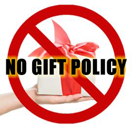 no gift policy 4